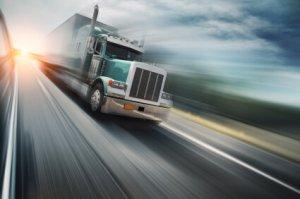 Truck on freeway