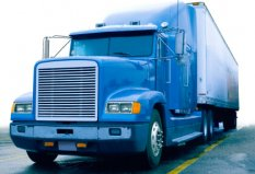 משאית הובלה כחולה